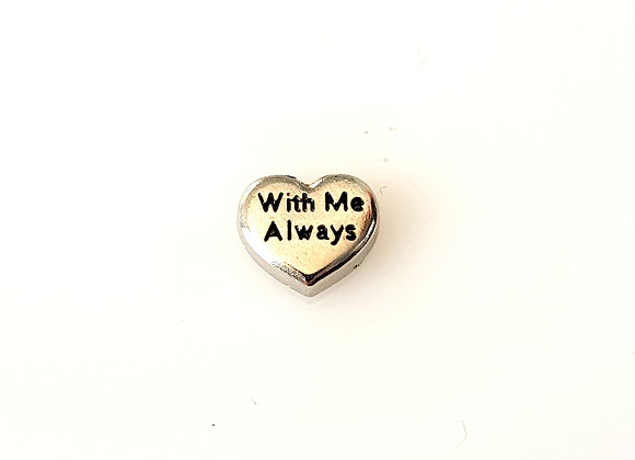 With Me Always Heart Charm