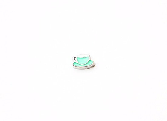 Green Cup & Saucer Charm