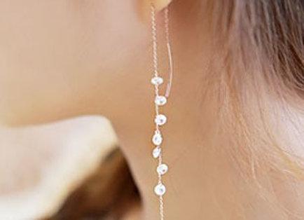 Crystal Drop Earrings Silver