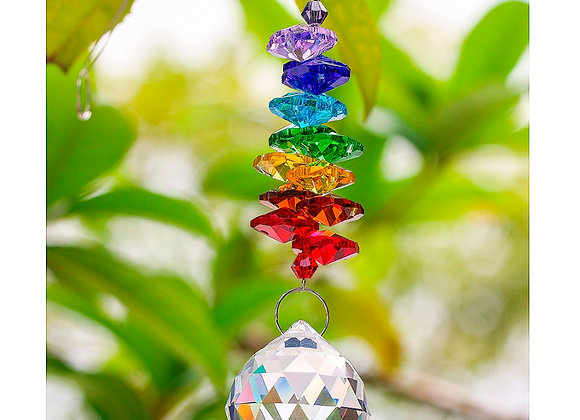 Crystal Ball Rainbow Suncatcher