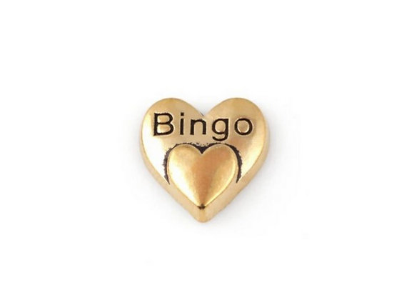 Bingo Heart Charm (gold)