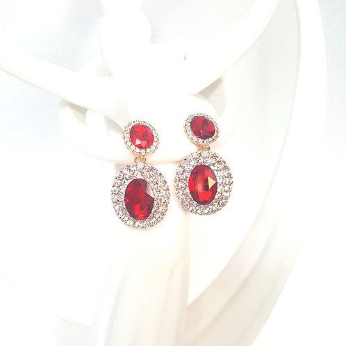 Elizabeth Earrings Red