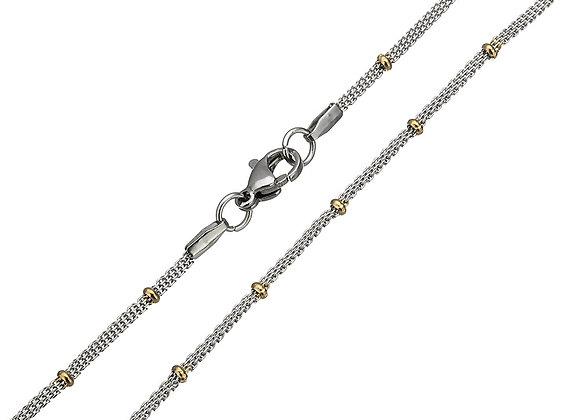 Two-tone Beaded Mesh Chain 45cm