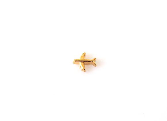 Gold Plane Charm