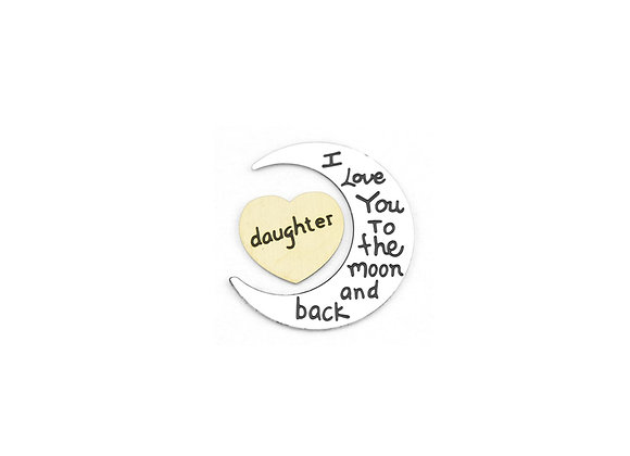 To The Moon and Back Plate- Daughter