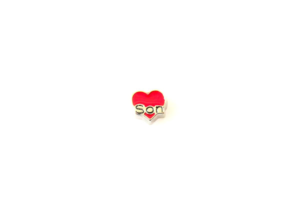 Son Heart Charm Red