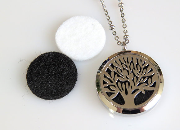 Silver Tree Aromatherapy Locket