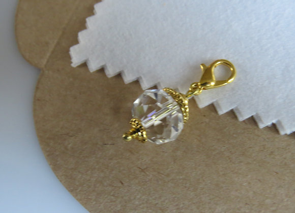 Gold Crystal Dangle
