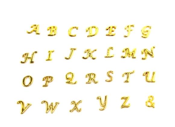 Gold Alphabet Charm A-Z