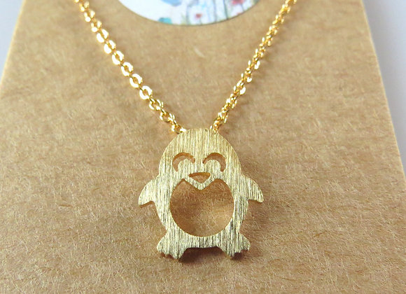 Penguin & Igloo Necklace Gold