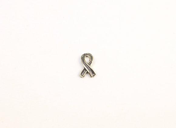 Grey Ribbon Charm