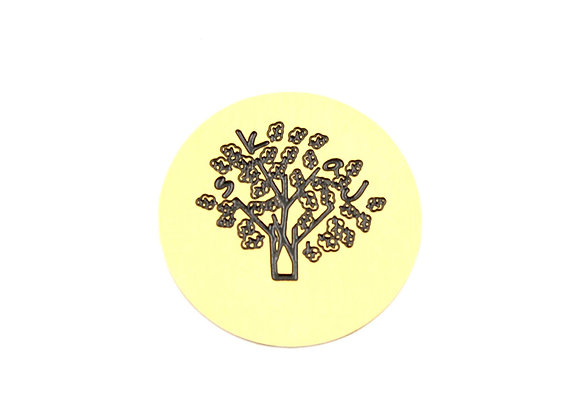Etched Tree Plate- Gold