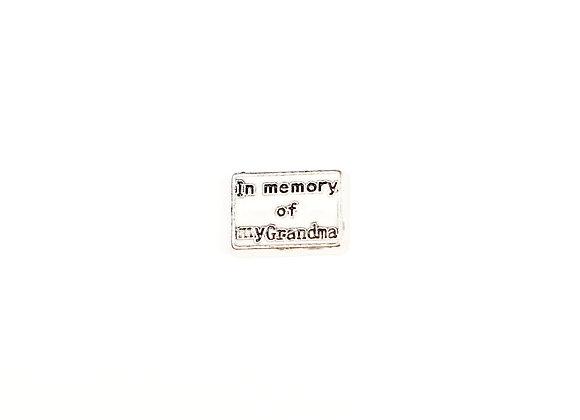 In Memory of My Grandma Charm