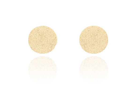 Glitter Stud Earrings Gold