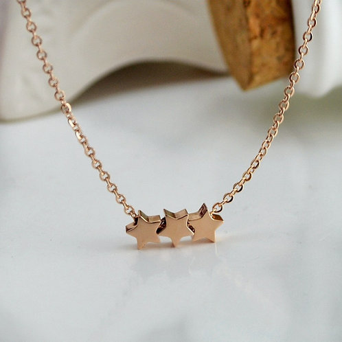Three Wishes Necklace Gold