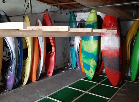 Wir bauen neue Bootsständer: endlich haben wir wieder Platz für neue Boote
