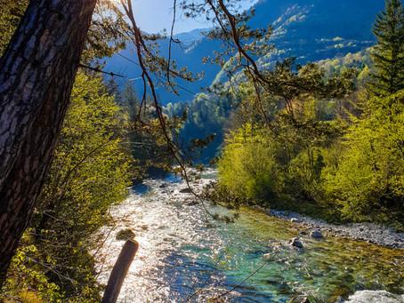 Ostern an der Soča: Traumurlaub bei Traumwetter am schönsten Fluss Europas