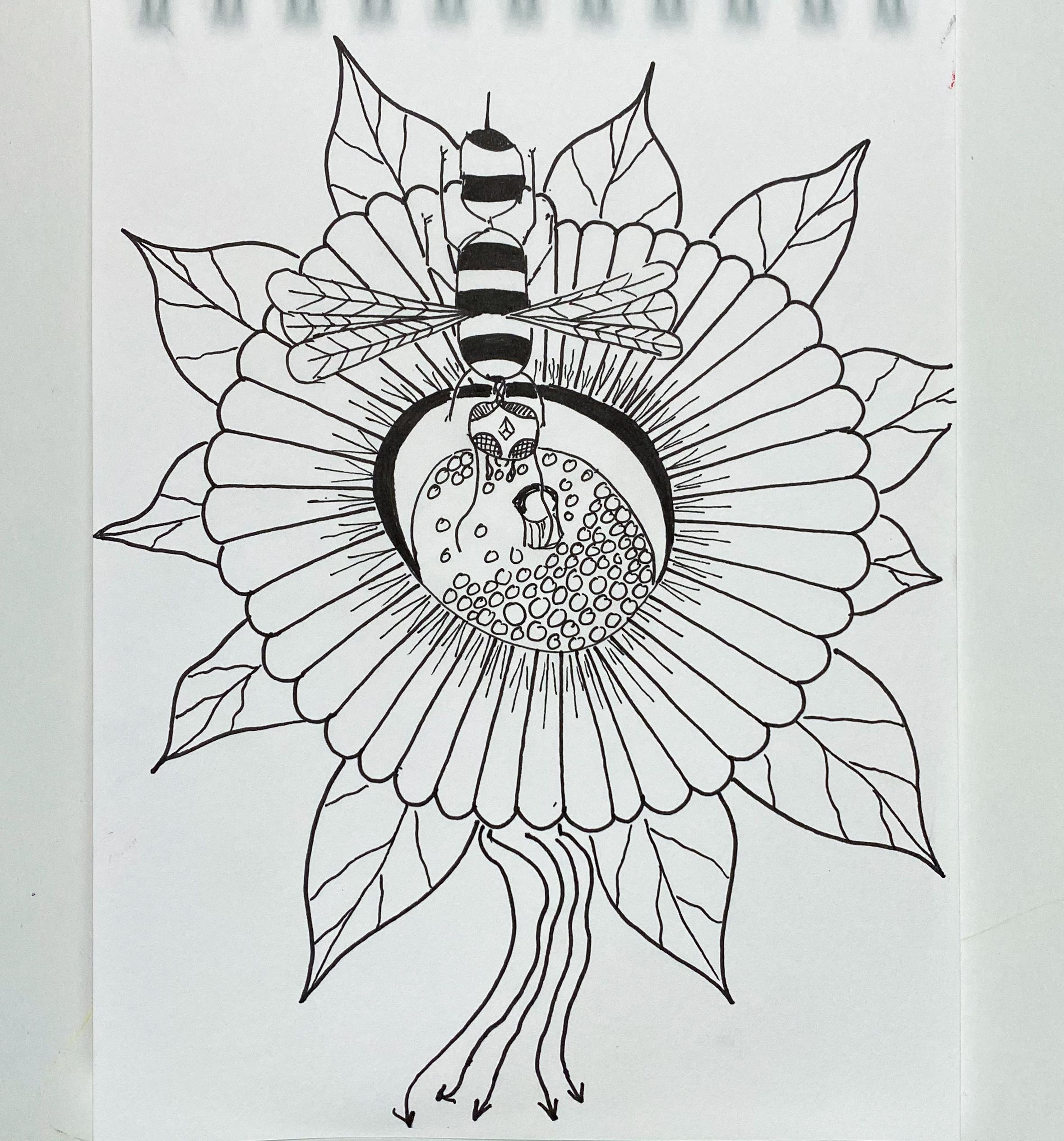 magicmouseart.com moon flower