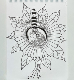 magicmouseart.com moon flower