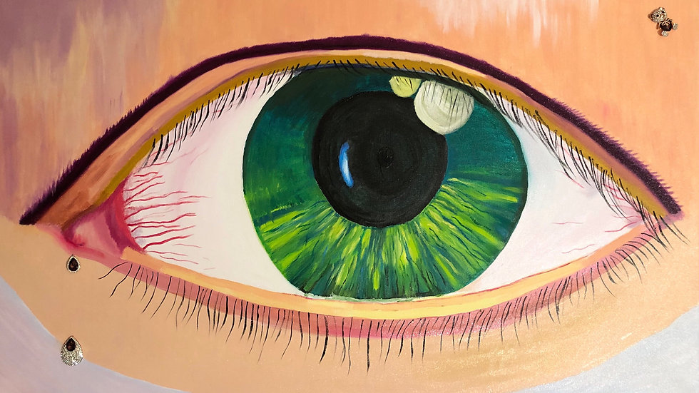 "Painting ""Green eye"""
