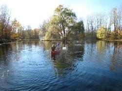 pond with kayak