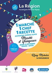 « 1 Marché , 1 Chef , 1 Recette » Rendez-vous sur le marché d'Yssingeaux le jeudi 21 octobre 2021 de 9h à 12h Une opération 100% culinaire...