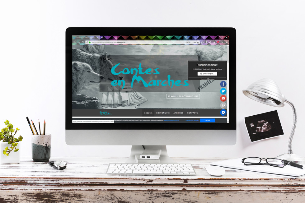 Refonte de site WEB - festival Contes en Marches