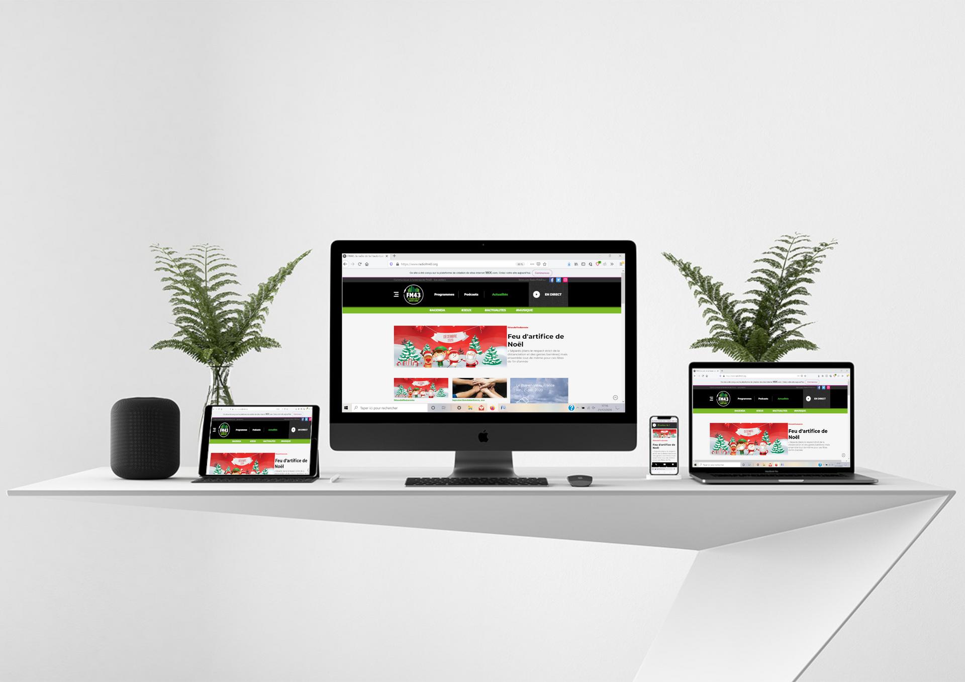 Création de site WEB - FM43, la radio de la Haute-Loire