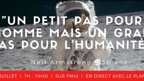 """50 ans : """"Un petit pas pour l'homme mais un grand pas pour l'humanité"""""""
