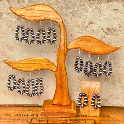Navajo pearl loop earrings