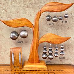 Navajo pearl dangle earrings