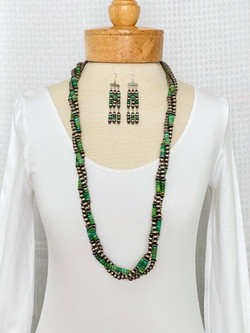 Twisted green turquoise