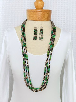 Multistrand green turquoise
