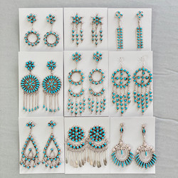Turquoise petit point dangles