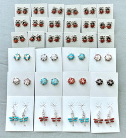 Assorted inlay earrings