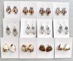 Assorted owl earrings