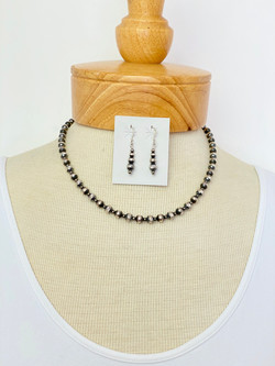 Diamond cut silver bead