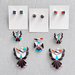 Multicolor Thunderbirds and earrings