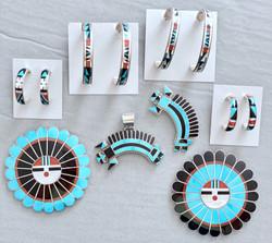Multicolor inlay designs