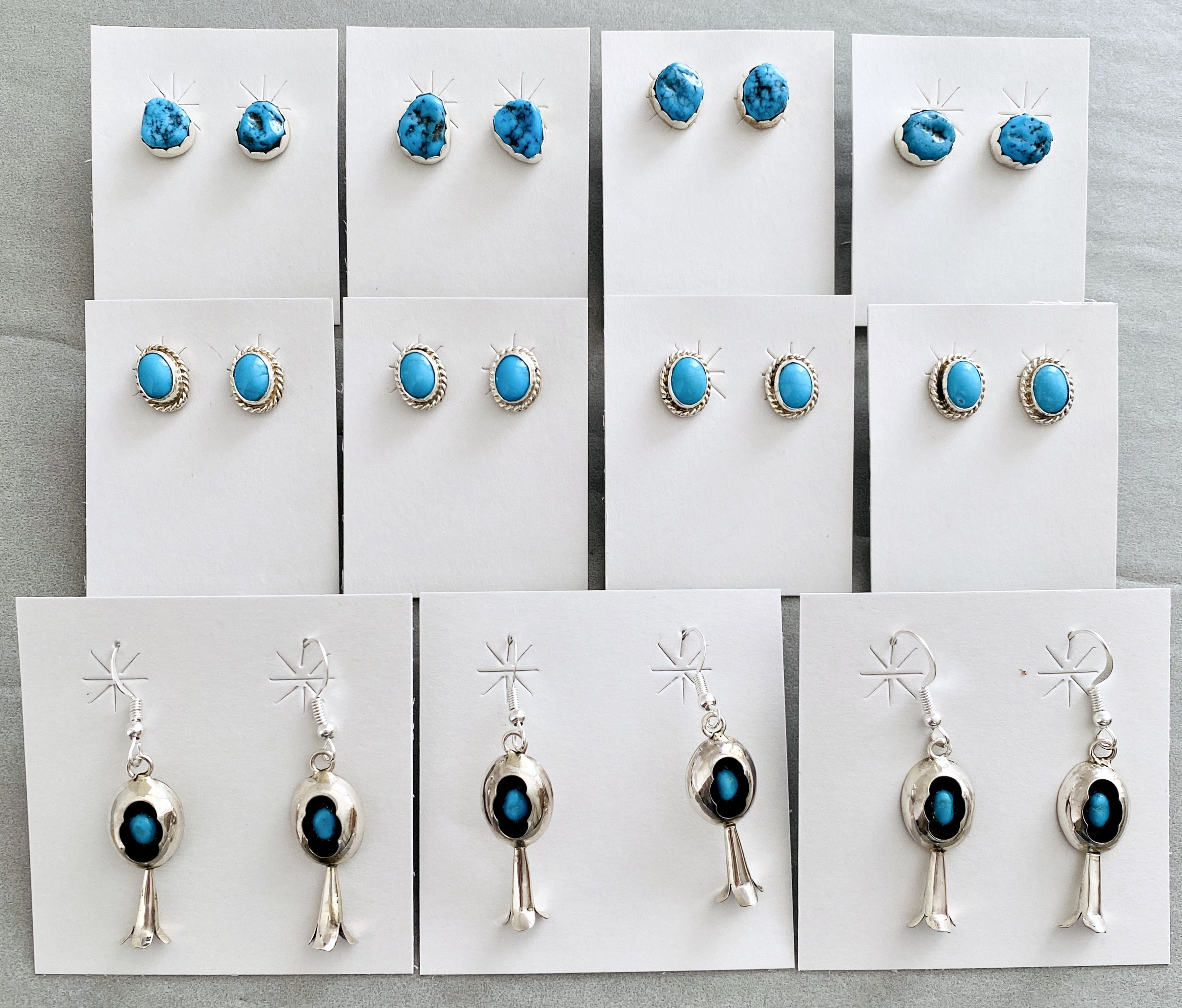 Turquoise studs & wires