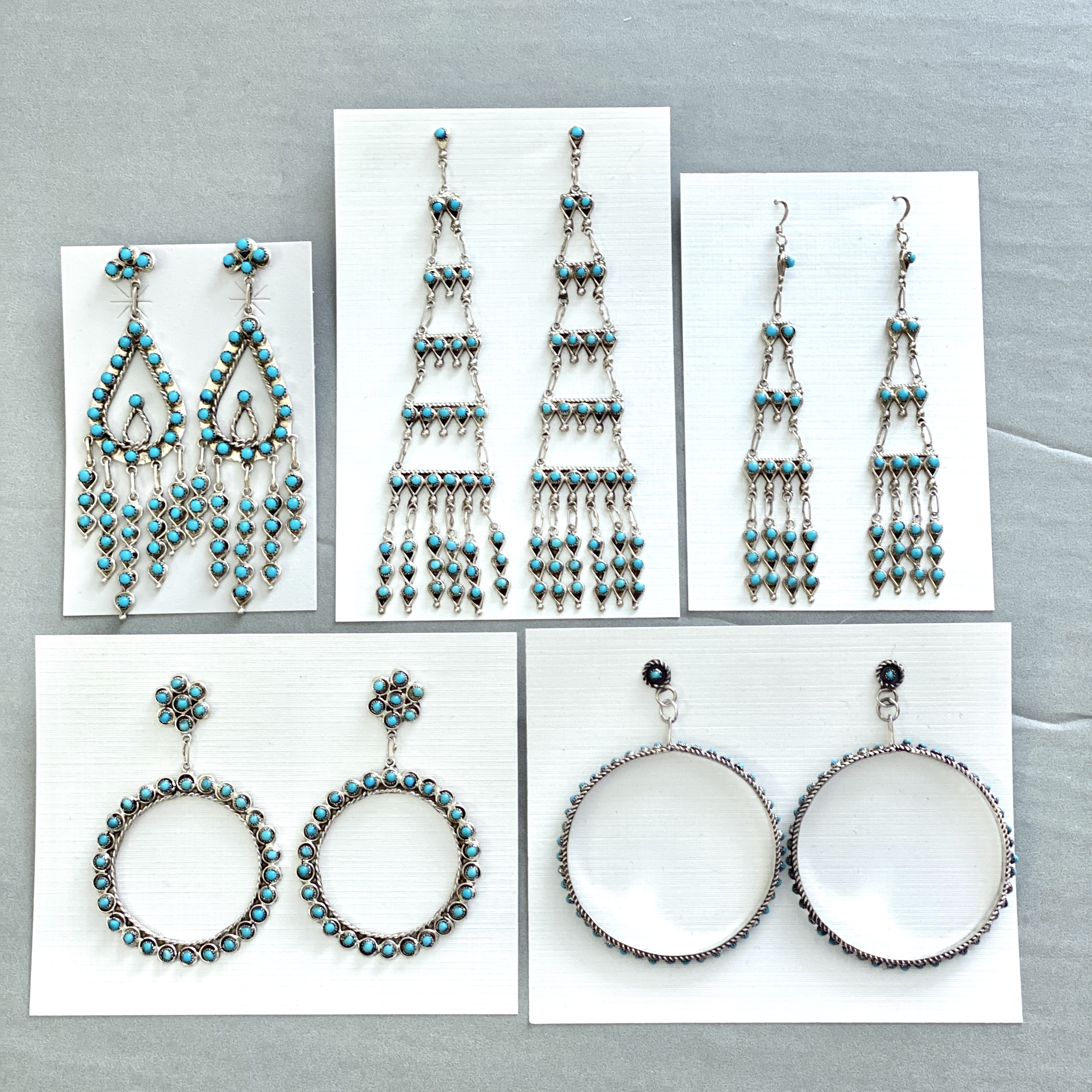 Turquoise petit point earrings