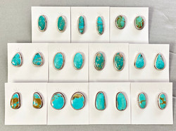 Kingman turquoise post earrings