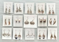 All sterling earrings