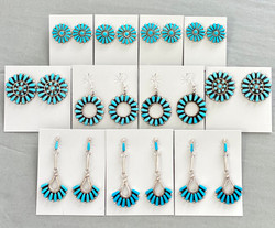 Turquoise round clusters