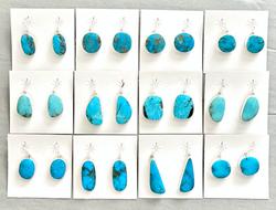 Kingman turquoise wire earrings