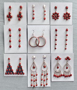 Red coral dangles