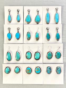 Kingman turq earrings asst