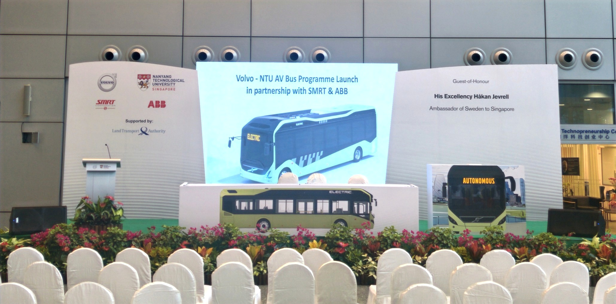 Volvo-NTU AV Bus Programme Launch 2018