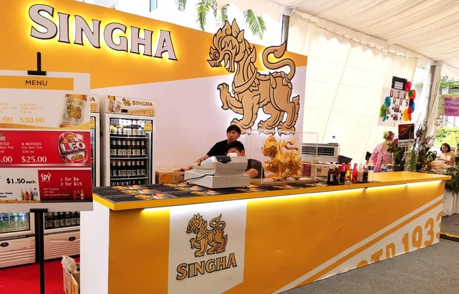 Singha Booth @ Thai Fest SG 2019