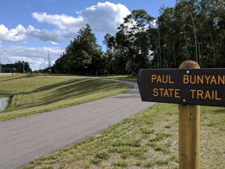 Southward on the Paul Bunyan State Trail